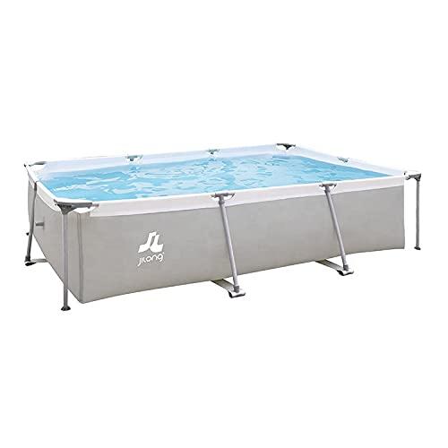 Avenli SteelSuper Stahlramen Aufstellpool Rechteckig 300 x 207 x 65 cm Frame Pool Rectangular Schwimmbecken Gartenpool ohne Pumpe