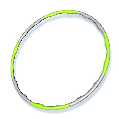 フラフープ 8本組 直径95cm 組み立て式 サイズフリー (グリーン)