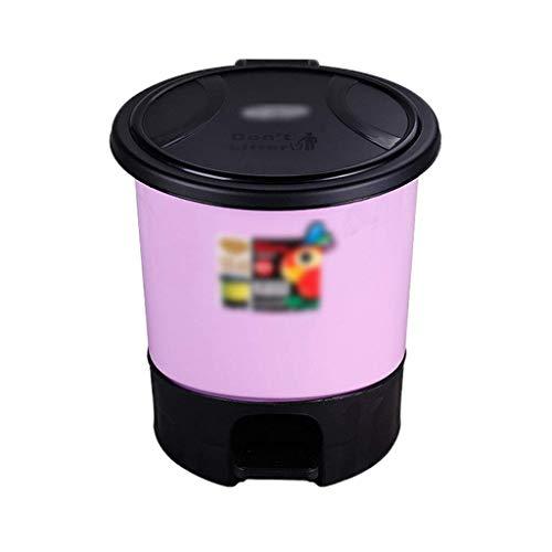 Good dress Cubo de Almacenamiento de Basura para el Hogar Bote de Basura Operado con el Pie, Bote de Basura de Plástico Reutilizable Abatible, Bote de Basura para Baño 5.5-8.5L de Gran Capacidad8.5l