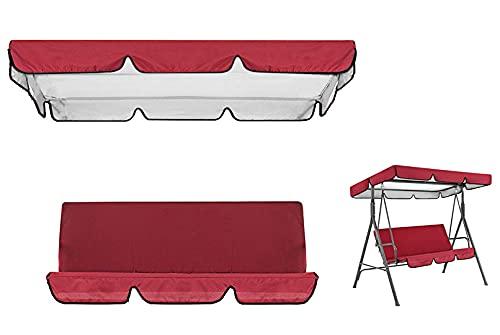 Haudang - Copertura universale superiore e della seduta per dondolo da giardino, a 3 posti