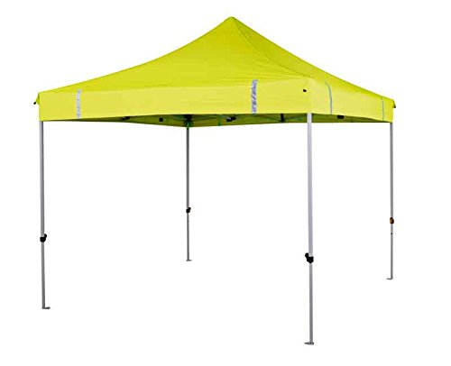 Oztrail - Deluxe Gazebo Hi-Viz Yellow MPG-GD30HY-A 3x3m High Visibility Yellow, Heavy duty straight scissor struts, 25kg, Gazebo for garden party camping festival beer tent marquee, worksite, construction site
