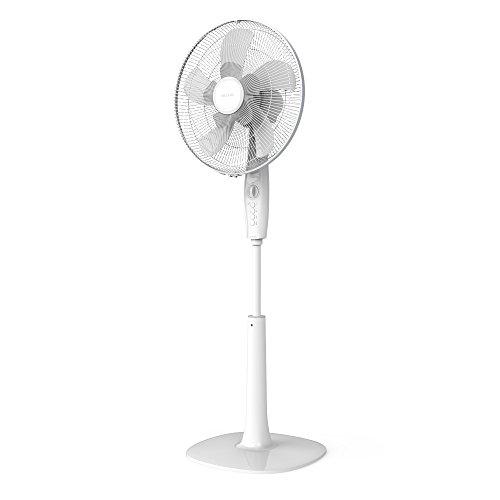 Cecotec EnergySilence 1010 ExtremeFlow Ventilador de pie 10 aspas, Potente, Oscilante, Silencioso, 3 velocidades, Temporizador, Regulable, Motor de Cobre, Blanco