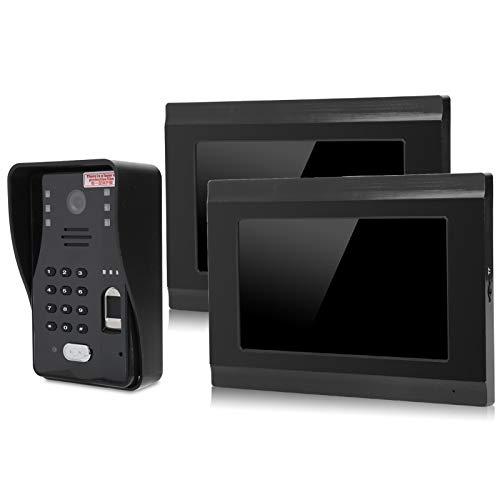 SALUTUYA Conexión para monitoreo de videoportero de 8 Aplicaciones móviles, intercomunicador 500 Huellas Dactilares(European regulations)