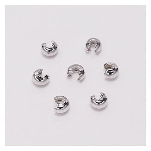 TWWSA Cuentas espaciadoras 100 Piezas/Lote de la Tapa Redonda de Cobre Cuello de endurecimiento 3 4 5 mm Juntas de Enchufe para la fabricación de joyería de Bricolaje Hecho a Mano