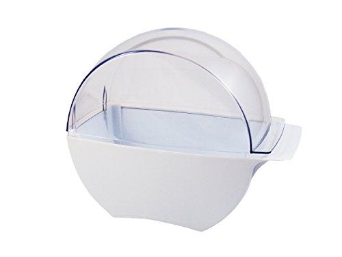 N&BF Zellettenspender weiß | Zellettenbox zur Aufbewahrung von Zellstofftupfern | Zeletten Pad Spender aus Acryl für Nageldesign im Nagelstudio | rutschfest & standfest