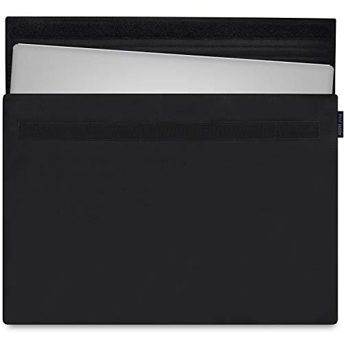 Adore June 15,6 Zoll Classic Hülle kompatibel mit Dell XPS 15 2015-2019, Laptop-Tasche aus beständigem Stoff, Schwarz