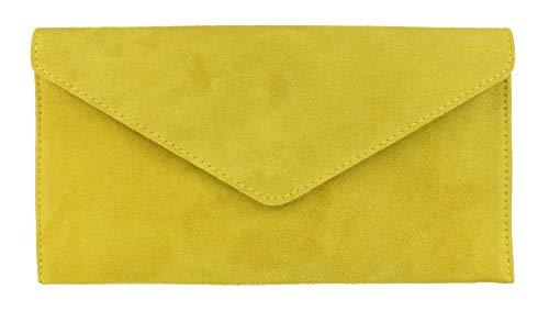 Bolso sobre amarillo de piel