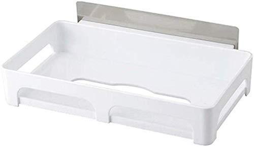 Dirgee Soporte de Toalla de Papel sin Pegatinas, Soporte de Papel, Material de protección Ambiental de la Pared Blanca, Soporte for Papel higiénico, 26.6 cm Atilde; Mdash;14.5 cm Atilde; mdash;4.9 cm