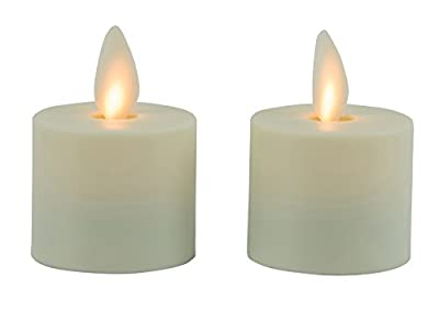 Mystique Flameless Candle, Ivory, Real Wax Candle With Realistic Flickering Wick, Battery Operated, By Boston Warehouse