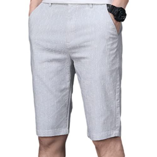 Katenyl Pantalones Cortos Deportivos Finos para Hombre, Moda, Transpirable, de Secado rápido, Relajado, cómodo, Tendencia Informal, Simplicidad, Pantalones Cortos de Playa 36