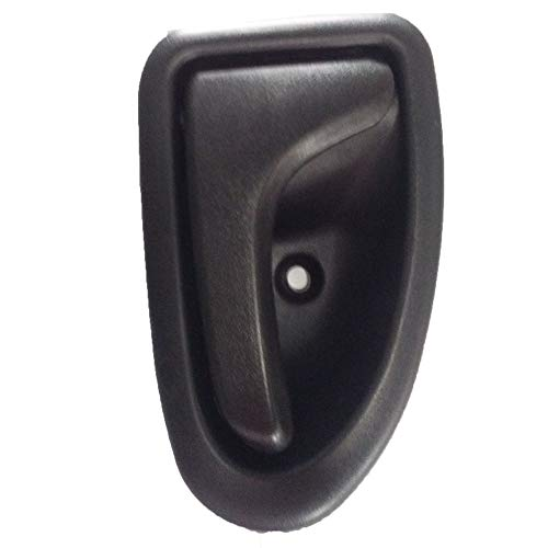 Manija de la Puerta nternal del Coche para Renault Clio Megane Scenic Trafic Negro (Izquierda)