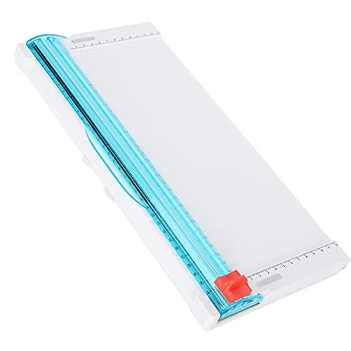 Recortador de papel A4 cortador de papel herramienta para álbumes de recortes con regla lateral para papel artesanal, etiquetas, fotografías y cartulina