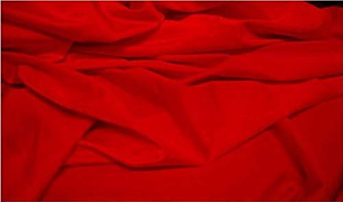 Fabrics-City Tessuto Costume da Bagno in Lycra Molto Elastico Rosso, 2475