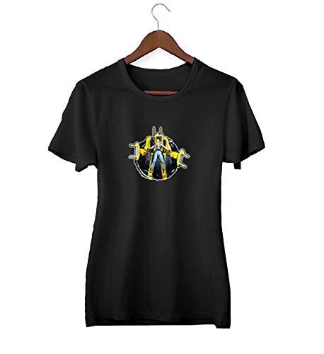 Fight Like A Girl Alien Power Robot Character_KK018394Camiseta de la Camisa Regalo de Las Mujeres Camiseta cumpleaños, 2XLarge, Black