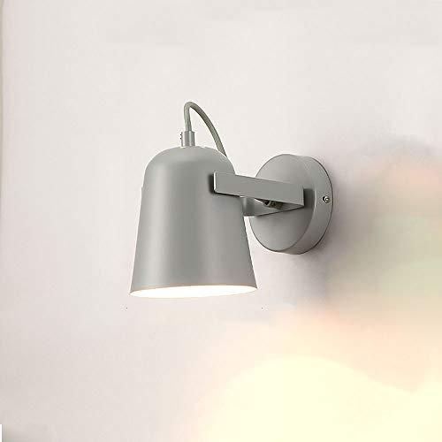 Chambre à coucher créative simple chambre lit couloir couloir personnalité escalier étude lampe murale macaron moderne lampe murale LED (Couleur : Gris)
