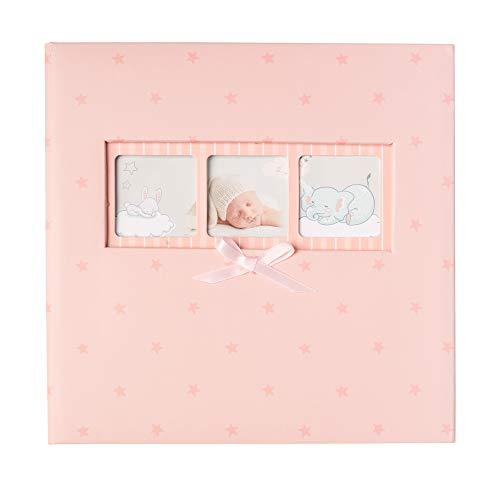 Grupo Erik AF200101507 Álbum de Fotos Memo Baby Rosas, Rosa Estrellas, 22,7 x 22,2 x 5 cm