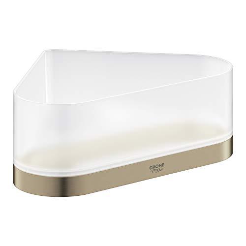 GROHE Selection, Accessoires - Eck-Duschablage mit Halterung, bestehend aus Halterung und Duschablage, nickel gebürstet, 41038EN0