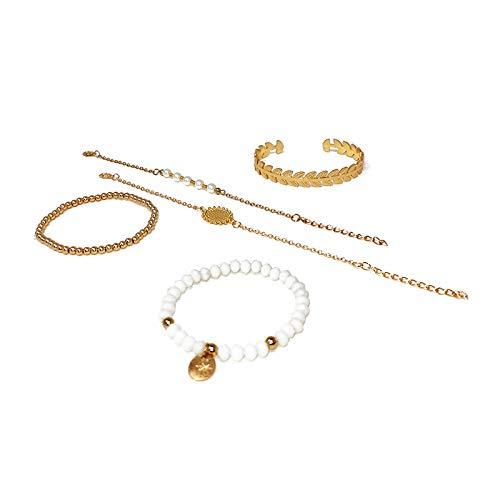 Shop-STORY – SELENA Pulsera – Conjunto de 5 pulseras bohemia Chic