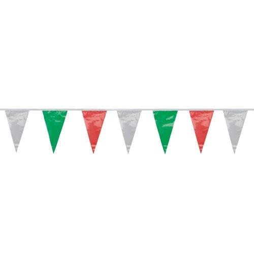 PARTY DISCOUNT NEU Wimpelkette Italien-Fahne dreieckig, 4 m