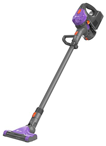 Rollibot Puro 100 Cordless Stick Vacuum Cleaner 140W High-Power Ultra Lightweight Bagless Sweeper Pet Hair Electric Broom with Motorized Brush Head Superior Cyclone Suction Rechargeable Battery