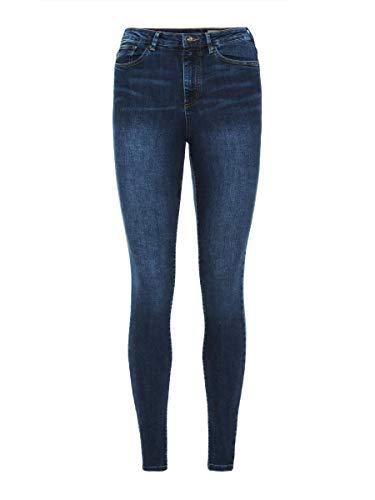 VERO MODA Vmsophia Hw Skinny Jeans Md Bl Noos Vaqueros skinny Mujer, Azul (Medium Blue Denim), 38 /L30 (Talla del...