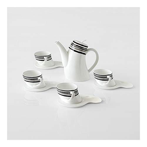 kerryshop Tazas para niños Copas de Espresso con platillos Conjunto de té de Porcelana Capuccino de Porcelana para té/café, 4 oz, Conjunto de 4 Taza de té