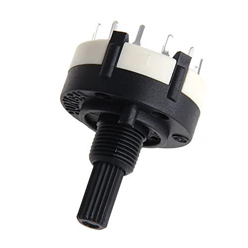 YSJJSQZ Interruptor Giratorio RS26 Posición de 1 Polo 12 Banda Seleccionable SELECTOR DE Canal ROTARIO DE Interruptor