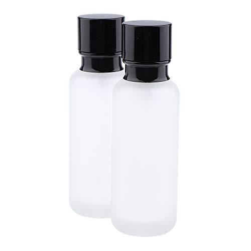 Homyl 2x Bouteille Vide en Verre Récipient Cosmétique avec Couvercle pour Échantillon de Crèmes Stockage de Maquillage - 120ML