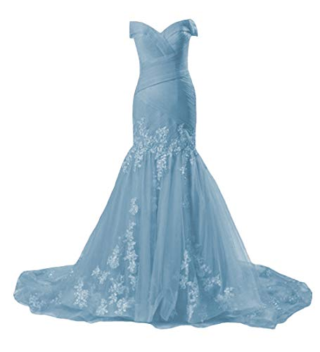 P.L.X Damen Formales Lange Spitzenkleid Vintage Hochzeitskleider Party Abendkleider