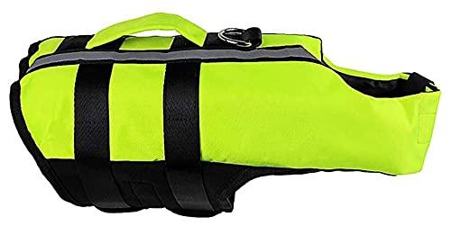 M3 Decorium Perro Salvavidas Chaleco Chaleco Mascota Traje de baño Cachorro Traje de baño Deportes safets Superior Rescate asa Flotador Abrigo Salvavidas (Size : XL)