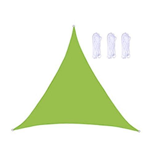 Asodomo Toldo triángulo beige de 9,8 x 9,8 x 9,8 cm, con bloqueo UV, tela para exteriores, patio, jardín, patio trasero