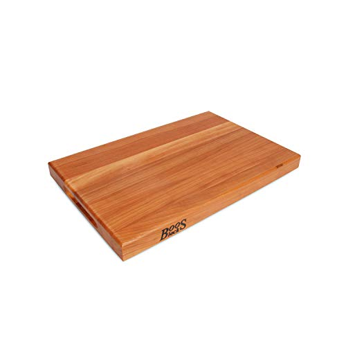 John Boos CHY-R01 Cherry Wood Edge Grain Reversible Cutting Board, 18 Inches x 12 Inches x 1.5 Inches