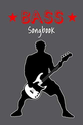Praktisches TAB Notizbuch, Heft, Block für Bassisten/Bass Gitarre 4 Saiten - Lernen und Songwriting: – Mein Songbook: 120 Seiten TAB Linien mit Platz ... und komponieren – für Schüler und Songwriter