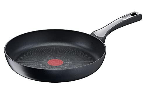 Tefal G27406 Steak It Easy Bratpfanne 28 cm | Antihaftbeschichtung | widerstandsfähig | Thermo-Signal | induktionsgeeignet | einfache Reinigung | höchste Leistung | Schwarz