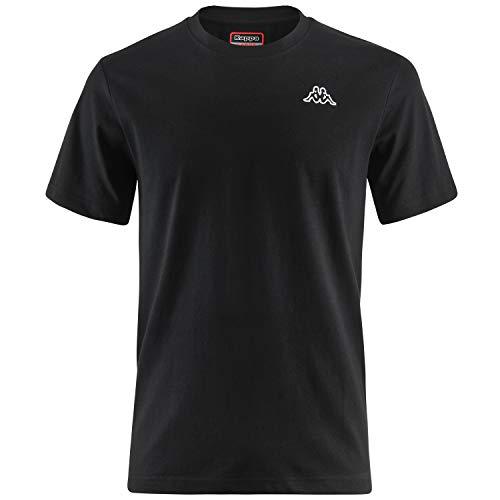 Kappa Cafers Camiseta, Hombre, Rojo/Blanco/Negro, M