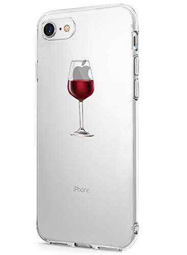 iPhone 7 Case, iPhone 8 Cover, Alsoar Sottile e Leggera Silicone Trasparente Anti Scivolo Graffi Morbido TPU Design Creativo Cover per iPhone 7/iPhone 8 4.7 Pollici (Elefante e Coniglio)