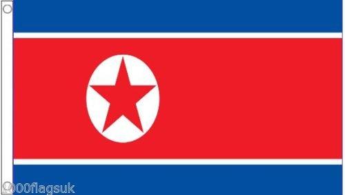 1000 Flags Corée du Nord Drapeau 3 'X2' (90 cm x 60 cm) – Polyester tissé