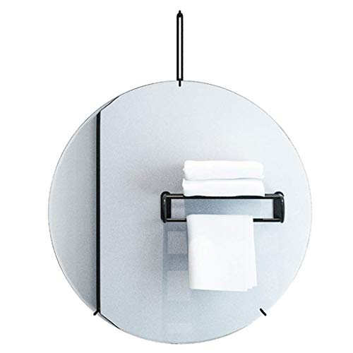 DCLINA Espejo Maquillaje Espejo Pared Circular Vidrio sin Marco, Espejos Maquillaje Pared para baño con Kit fijación, Espejo Decorativo Simple y Moderno, para Pasillo, Sala Estar, Dormitorio