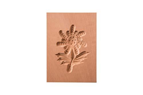 Springerle-Model Edelweiß, Holz Form Birnbaum, Backform für Anisgebäck, 8 x 6 cm