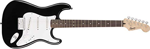 Squier by Fender Bullet Stratocaster Beginner Hard Tail Electric Guitar - Black