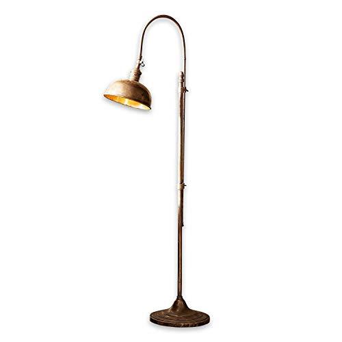 Loberon Stehlampe Conway, Messing, H/Ø 153/27 cm, kupfer, E27, max. 40 Watt, A++ bis E