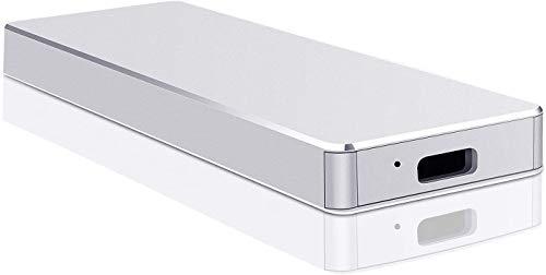 Disco duro externo portátil de 2 TB, disco duro externo USB 3.1, compatible con PC portátil y Mac (2 TB, plateado)