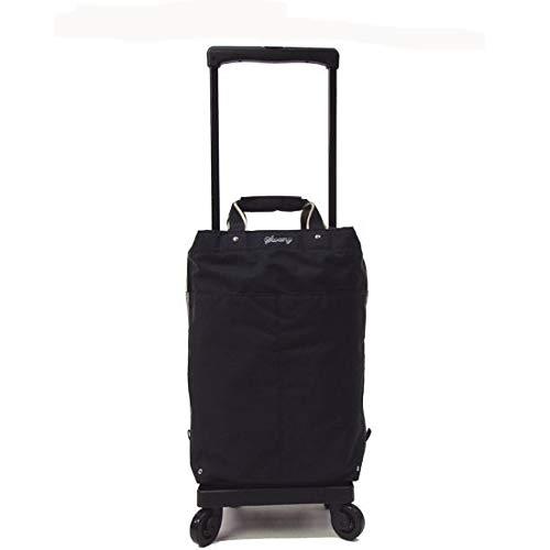 [スワニー] キャリーバッグ プレーネII 座面付 (L21) ブラック(4輪ストッパー付き)三愛オリジナル折りたたみサブバッグ付