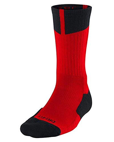 [612850–012] Air Jordania Elefante impresión Calcetines Calcetines de Accesorios Aire jordanmulti - 612850-695_M, Rojo (Gym Red)