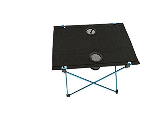 SZBTF Toda la mesa plegable de aluminio silla plegable al aire libre mesa de picnic y silla conjunto ultra ligero ocio barbacoa camping mesa escritorio y silla conjunto (mesa azul)