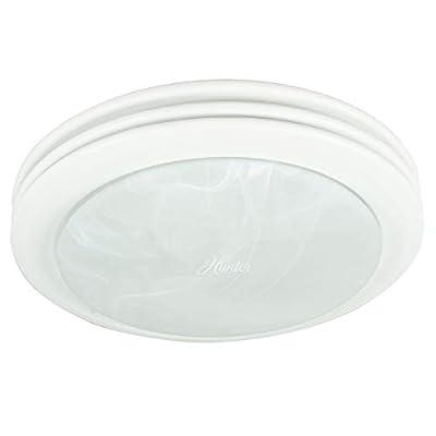 Hunter 90052 Saturn Decorative Bathroom Ventilation Fan with Light, Satin White by Hunter