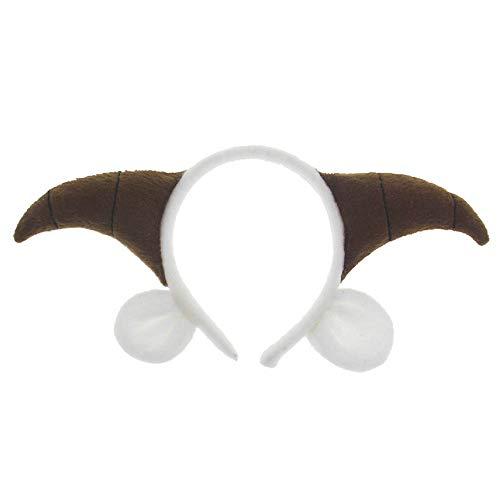 Pagreberya Goat Ears Headband with Horns- Goat Horns and Ears Costume - Goat Horns Headband with Ears - Goat Headband