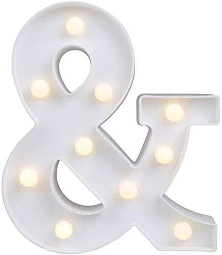 Gspirit LED Marquesina Carta Luces 26 Alfabeto Encender Firmar Navidad Luz de...