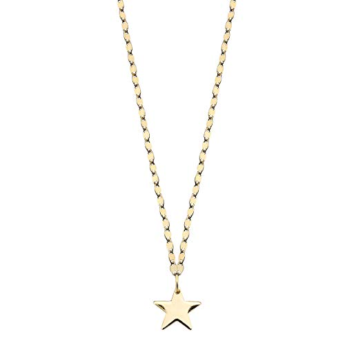Duran Exquse Pendentif étoile collection Astros, réalisé en argent sterling avec plaqué or jaune et chaîne avec design spécial.