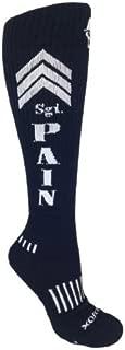 Sergeant Pain Black with White Knee-High Deadlift Socks